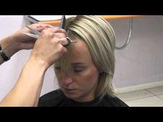 Veja e aprenda a fazer uma franja irregular em um corte de cabelo curto  #cabeloscurtos #shorthair #pelocorto #mulheres