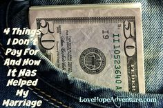 4 things I don't pay for and how it has helped my marriage 2