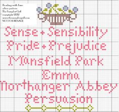 Reading with Jane Cross Stitch Project