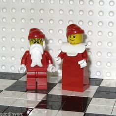 Lego-Minifig-Christmas-Mr-and-Mrs-Santa-New
