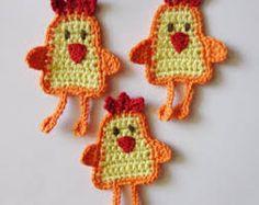 Resultado de imagen para gallos a crochet.