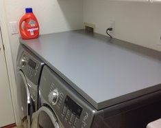 Counter Top On Front Load Washer/dryer   Table Top From IKEA, Glue