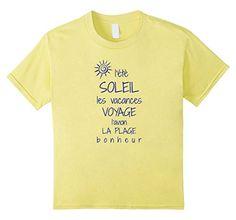 Kids French Summer - Inspirational T-Shirt For Francophiles