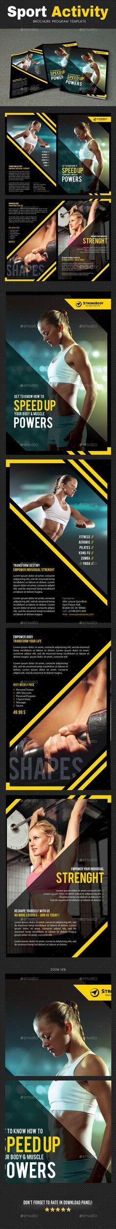 Sport Activity Brochure Template PSD