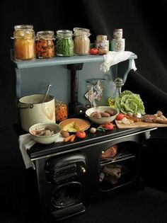 mini kitchen for dollhouse by Betsy Niederer
