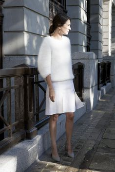 stunning whiteout. #LeilaYavari in London.