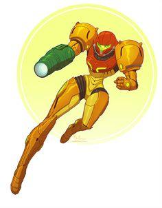 'Samus Aran - Metroid' Sticker by meganmk Samus Aran, Metroid Samus, Metroid Prime, Video Game Art, Video Games, Character Art, Character Design, Character Ideas, Gamer Tattoos