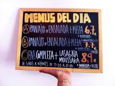 Menús del día en La Mia Tana  C/Pérez Galdós 24 (Soho Benita-Sevilla)