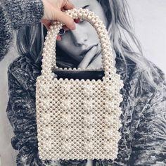c026aa85b8bd |Модные сумка с жемчугом женская сумка с бусинами женский кошелек ручной  работы Роскошная вечерняя сумка сумки для женщин 2018 купить на AliExpress