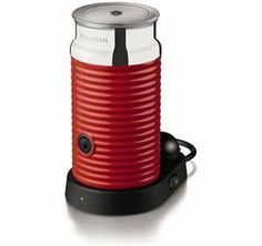Aeroccino 3 Color: Red by Nespresso. $99.00. Maximum capacity if preparing hot milk: 1-cup. Maximum capacity if preparing milk froth: 1/2-cup. The base houses the whisk storage. 3194-US-RE Color: Red Features: -Rapid one touch preparation of hot or cold milk froth.-Heats milk up to 160-170 F (71-60 C).-Base whisk storage for easy access.-1 button for all preparations.-1 second button pressure for hot milk or hot milk froth.-2 second button pressure for cold milk froth....