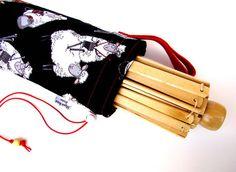 Yarn Swift Cover Yarn Winder Drawstring Padded Bag - Do Ewe Knit - Knitting Sheep - $35.00