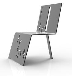 Chaise pliée metal Arborescence