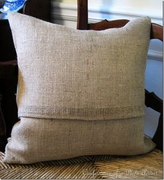 Tutorial on how to make an envelope style pillow cover - saves on buying so many new pillows!