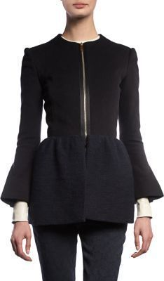 DIY Womens Clothing : The Row peplum jacket with exposed zipper