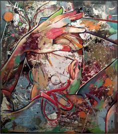 Mihail Korubin- Miho/ *Tranquility* / 2013   Oil on canvas  160cm x 140cm    #art #Figurative #paintings #figures #faces #portraits #hands #korubin #mihail #oil #canvas #Tranquility