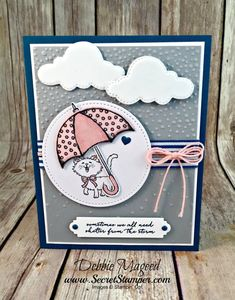 Picks from My Pals Stamping Community! (Mary Fish, Stampin' Pretty The Art of Simple & Pretty Cards) Dog Cards, Kids Cards, Fun Fold Cards, Cute Cards, Scrapbooking, Scrapbook Cards, Card Making Inspiration, Making Ideas, Umbrella Cards