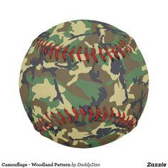 Camouflage - Woodland Pattern Baseball