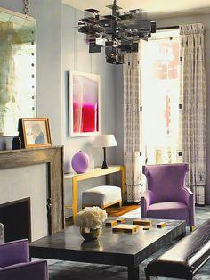 Living com Mobiliário Colorido