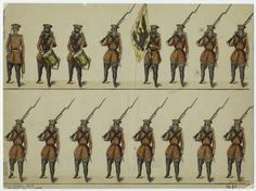 19th c. print of Russian Infantry.