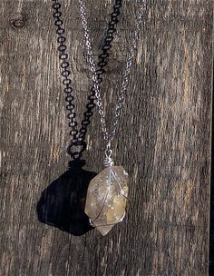 Long Crystal Necklace by thebohemianhobo on Etsy