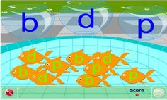 Fish Bowl Sorting B, D, and P  Here is a fun fish bowl sorting game aimed at helping students who struggle with p, b, and d confusion.