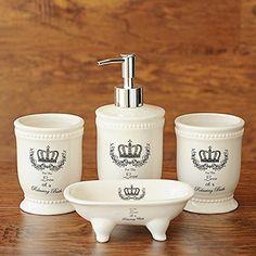 Ceramic ceramic bathroom four sets of British wind crown