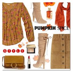 """""""Pumpkin Spice STYLE"""" by sjkdesign ❤ liked on Polyvore featuring Hollister Co., Vince Camuto, rag & bone and Bobbi Brown Cosmetics"""