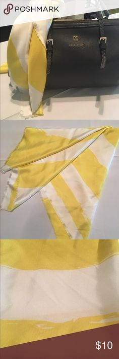 Ann Taylor yellow/white 💯% silk scarf This is a beautiful sun glow yellow that works well with just about any color. It is square in shape so works as an accent piece versus a neckwear although you can wear it around you neck. It also has frayed edges. Ann Taylor Accessories Scarves & Wraps