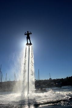 Jetskis are fine for the earthbound, but the Flyboard is for those who want to soar over water. It attaches to a Jet Ski through a 65-foot hose and the power of the Jet Ski propels water out of the device. Credit: aquaticaviation.net