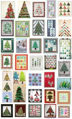 Quilt Inspiration: Free pattern day: Christmas 2015 (part - table runners, wall hangings, and quilts! Christmas Tree Quilt, Christmas Patchwork, Christmas Quilt Patterns, Christmas Tree Pattern, Christmas Sewing, Noel Christmas, Christmas Projects, Holiday Crafts, Christmas Quilting