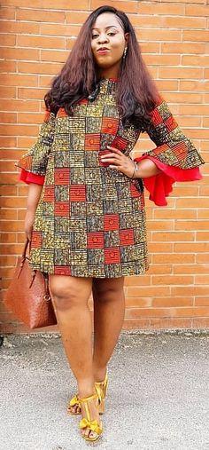 Best African Dresses Attire Fashion for African American women 2019 Short Ankara Dresses, Short African Dresses, Latest African Fashion Dresses, African Print Dresses, African Print Fashion, Ankara Tops, Dress Fashion, African Traditional Dresses, Traditional Outfits