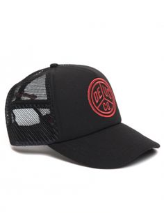 DEUS Trucker cap Peace - black red - US Trailer would love to repair used trailers in any condition to or from you. Contact USTrailer and let us buy your trailer. Click to http://USTrailer.com or Call 816-795-8484