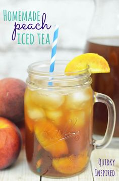 Homemade peach iced tea is one of my favorite drinks. It's so good with any meal, and it reminds me of home :) Click here for the recipe plus get 20% off Lipton Tea coupon! #ad #bemoretea #boostmealtime