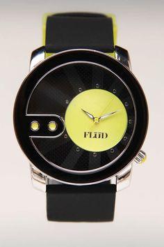 Flud Watches Exchange Watch Black/Neon Green