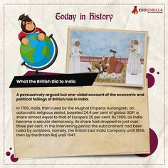 Today in History A persuasively argued but one-sided account of the economic and political failings of British rule in India. #todayhistory #didyouknow #didyouknowthat #edugorilla #education #learning #students #teachers #success #inspiration #motivation #knowledge #WorldWar #WorldWar1 Today History, Online Tests, Study Materials, One Sided, Accounting, Students, Knowledge, British, Politics