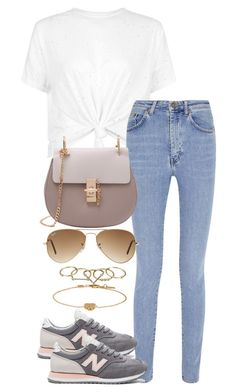 """""""Untitled #3894"""" by theeuropeancloset ❤ liked on Polyvore featuring Yves Saint Laurent, New Balance, Ray-Ban, Zimmermann and Gucci"""