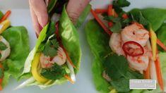 Lettuce Wraps, Egg Rolls, Brunch Ideas, Quesadillas, Burritos, Easy Dinner Recipes, Food Videos, Nom Nom, Shrimp