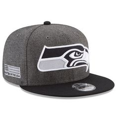 d8a4305be Men s Seattle Seahawks New Era Heather Gray Black Crafted in the USA 9FIFTY  Snapback Adjustable