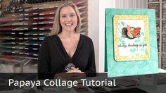 Always Thinking of You - Stampin Up Papaya Collage Stamp Set