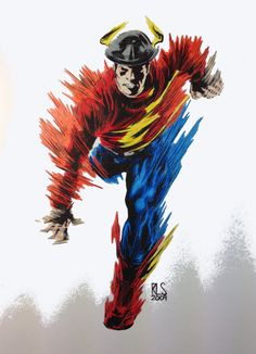 Jay Garrick the Flash Colored by SSGJoey