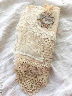 Handmade Vintage Fabric and Lace Journal