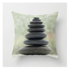 Stones Pillow Cover Zen Pillow Earth Objects Natural History Soothing Pillow Stcked Rocks Zen Calming Pillow