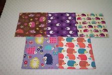 Baby Girl Wash Cloths Baby Wipes Reusable Double Flannel Hedgehogs Handmade