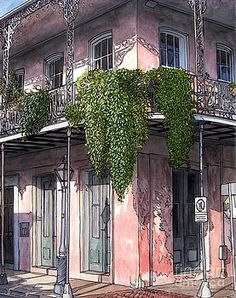 Cajun Painting - New Orleans Balcony by John Boles French Quarter, Art Pages, The World's Greatest, New Orleans, Find Art, Fine Art America, Original Paintings, Art Gallery, The Originals