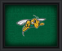 "Black Hills State University ""College Logo Plus Word Clouds""-15 x18 Framed Print"