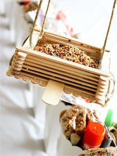 Green Activities For Kids -- Popsicle Stick Bird Feeder