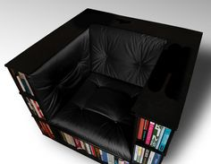 Gentleman's Luxury Library Bookcase Chair - Made to Order by The Library Chair