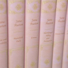 Jane Austen in Pink Leather / Must have these./Bucket List -To own and read(again)!