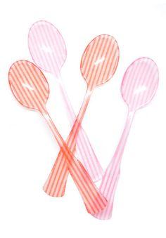 LEIFCandy Stripe Teaspoon Set