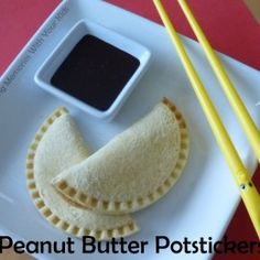Peanut Butter Potstickers with Chocolate Dipping Sauce (Making Memories . One Fun Thing After Another) Maple Frosting, Buttercream Filling, How To Make Salad, How To Make Cake, Honey Bun Cake, Diy Gumball Machine, Hawaiian Macaroni Salad, Chocolate Dipping Sauce, Brownie Trifle